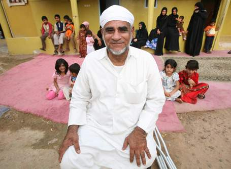 Daad Abdulrahman has been living in the UAE since 1965 and claims he has 86 children. (Randi Sokoloff / The National)